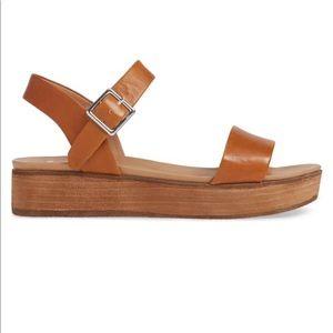 fec86eb1b49e Steve Madden Shoes - Steve Madden Aida Platform Sandal Cognac Leather 8